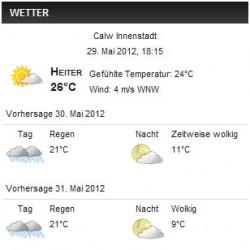 wp-forecast Wetter Plugin für WordPress