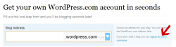 Bei WordPress.com registrieren