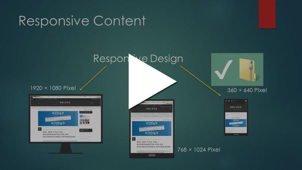 Video Tutorial: Responsive Content mit CSS umsetzen