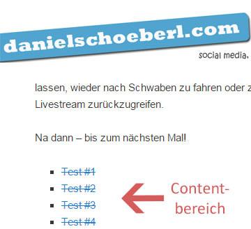 SEO Nofollow Test mit extern eingehenden Links vom Blog von Daniel Schöberl