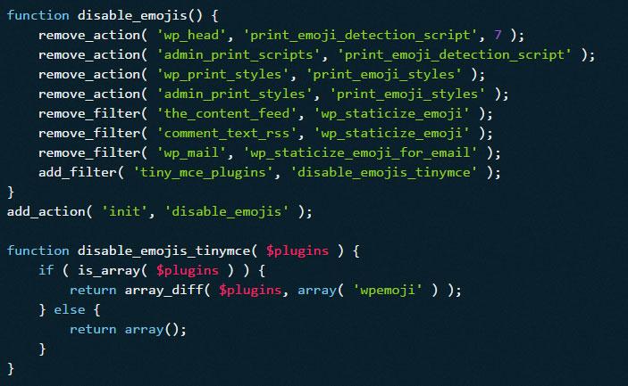 WordPress: Emoji deaktivieren mit functions.php