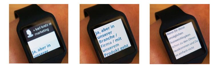 Smartwatch Webbrowser Beispiel: Karl Kratz