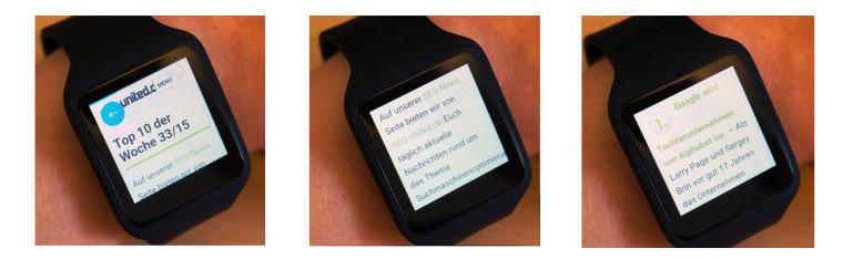 Smartwatch Webbrowser Beispiel: SEO United