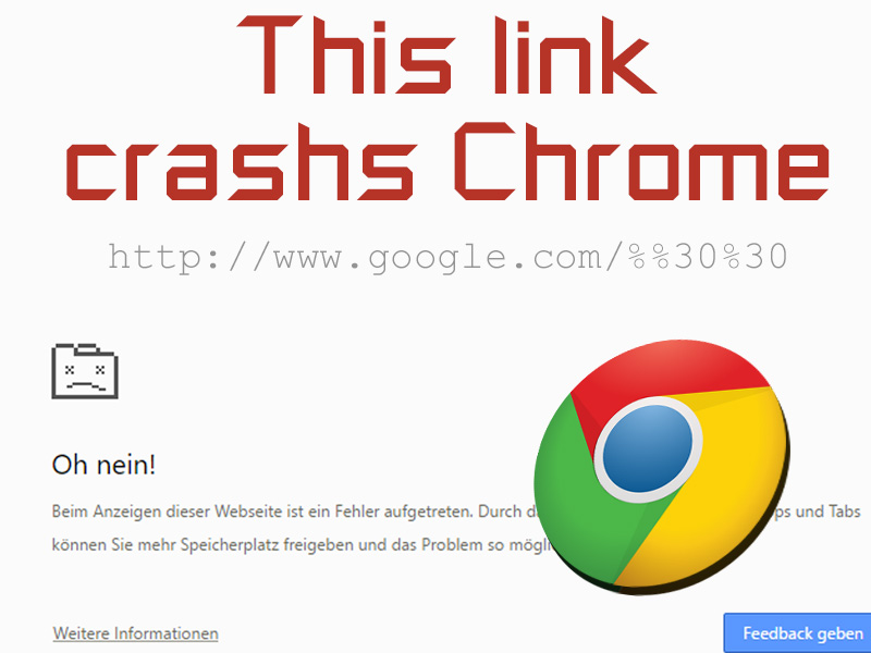 Google Chrome Link Crash