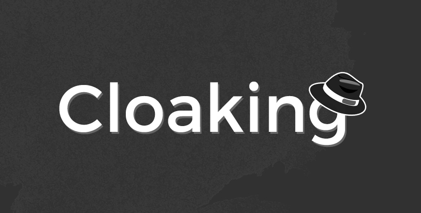 Cloaking ist Black-Hat-SEO